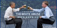 Obama drinking beer
