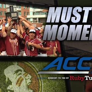 FSU Celebrates 6th ACC Baseball Championship | ACC Must See Moment