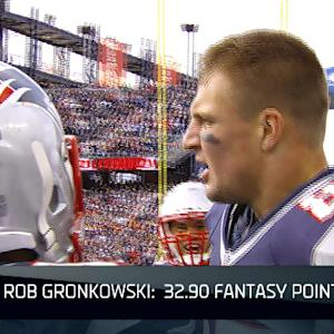 Wk 8 Fantasy Report: New England Patriots tight end Rob Gronkowski