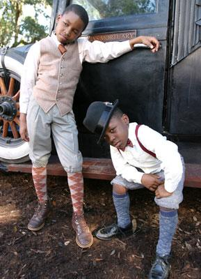 Bre' Wan Waddell and Bobb'e J. Thompson in Universal Pictures' Idlewild