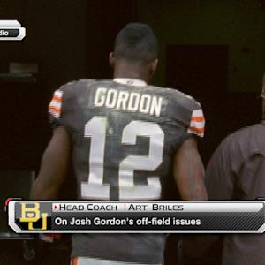 Baylor Head Coach Art Briles on Cleveland Browns wide receiver Josh Gordon