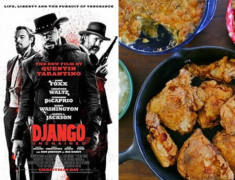 Django Unchained: Classic Southern Fried Chicken, Mac &amp;#39;n&amp;#39; Cheese, and Cherry Cobbler