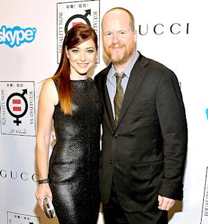 Alyson Hannigan Stuns in Leather Black Dress, Reunites With Joss Whedon: Picture