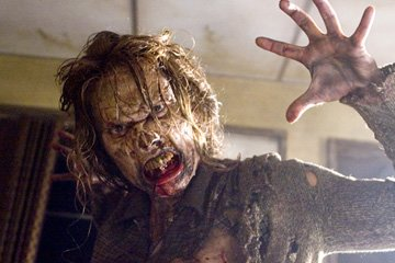An undead human in Screen Gems' Resident Evil: Extinction