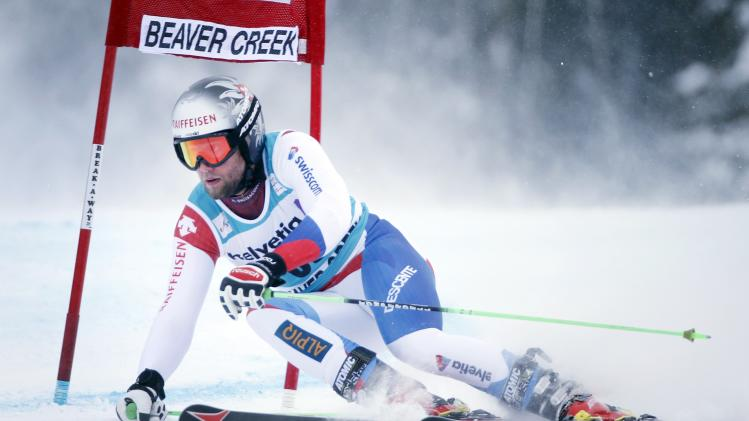 Pleisch of Switzerland skis during the second run on his way to finishing 18th in the Men's World Cup Giant Slalom ski race in Beaver Creek