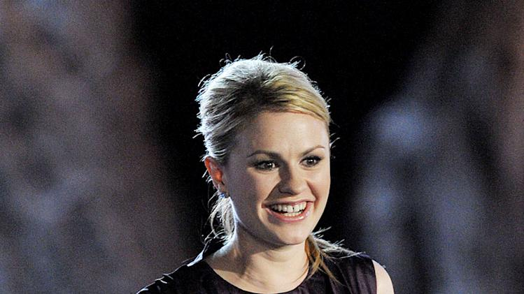 Anna Paquin accepts the Best Horror Actress award onstage during Spike TV's Scream 2009 held at the Greek Theatre on October 17, 2009 in Los Angeles, California.
