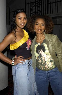 Premiere: Ananda Lewis and Angela Bassett at the New York premiere of Columbia's Enough - 5/21/2002