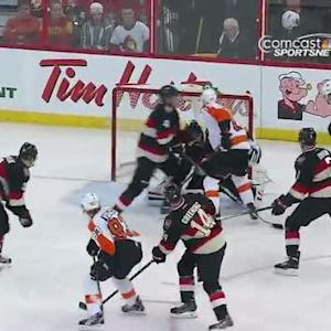 Jakub Voracek tallies on the power play