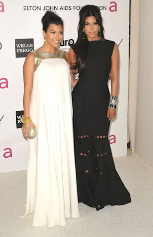 Kim Kardashian And Kourtney Kardashian At