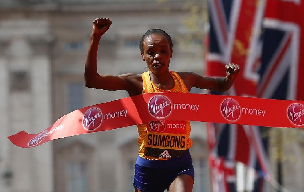 Kenya's Sumgong to defend London Marathon title