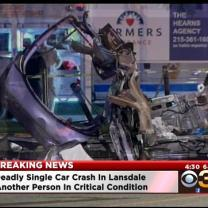 1 Dead, 1 Critical In Single Car Crash In Lansdale
