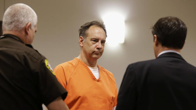 In this July 3, 2014 file photo, Steven Zelich walks into a Walworth County courtroom for his preliminary hearing in Elkhorn, Wis. Zelich, a former police officer suspected in the deaths of two women whose bodies were found stuffed in suitcases along a rural Wisconsin road returns to court Tuesday, Aug. 5, 2014, in Kenosha County, Wis., to face more charges. Zelich's attorney Jonathan Smith says he doesn't know what the charges will be. (AP Photo/Jeffrey Phelps, File)