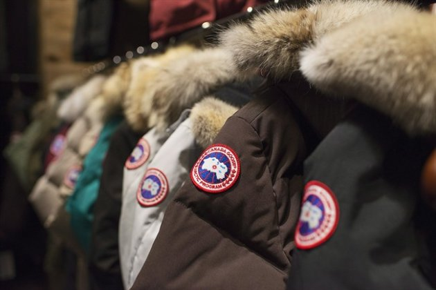 Garments on display at the Canada Goose Inc. showroom in Toronto on November 28, 2013. Canada Goose, one of the world's leading makers of extreme weather outerwear, is selling a majority stake in the company to private investment firm Bain Capital. THE CANADIAN PRESS/Aaron Vincent Elkaim