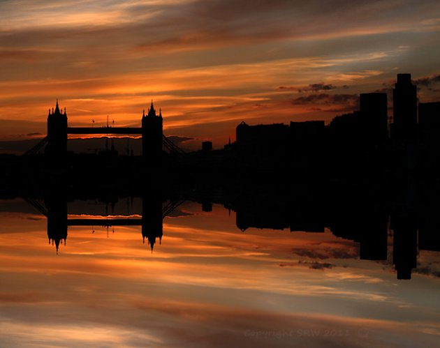 A London Sunset across the Thames