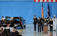 <p>US President Barack Obama and Secretary of State Hillary Clinton bow during a ceremony marking the return of the remains of four Americans killed in Benghazi, Libya, at Andrews Air Force Base in Maryland, September 14. Obama has carved out a clear advantage in the White House race even as he juggles the demands of his re-election campaign with managing a raging Middle East crisis.</p>