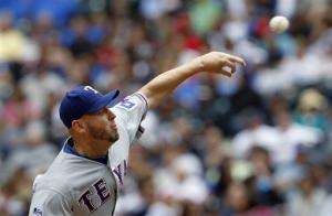 Harrison tosses 5-hitter as Rangers beat Mariners
