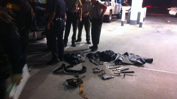 Weapons found inside chase suspect's vehicle