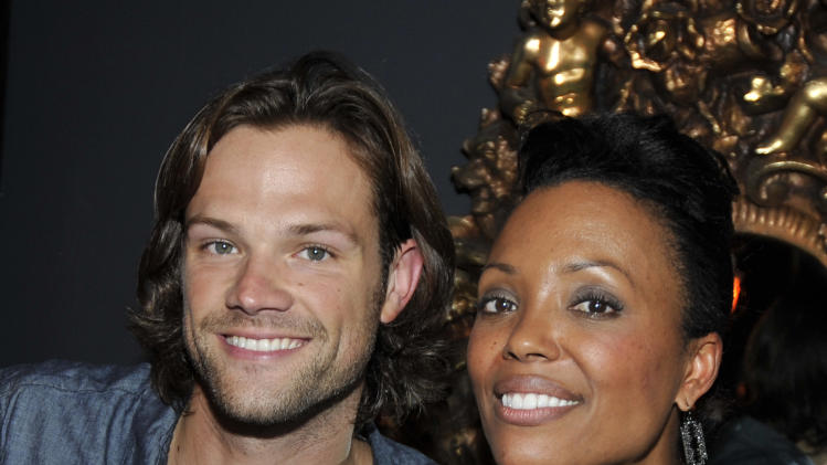 Actor Jared Padalecki and Aisha Tyler at the Ubisoft and Aisha Tyler Present the Girl on Guy Comic Con 2013 Players Lounge, Saturday, July 20, 2013. (Photo by Jack Dempsey/Invision for Ubisoft/AP Images)
