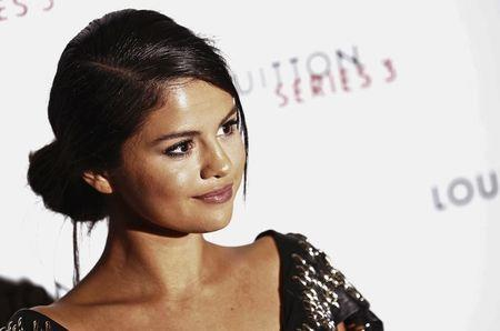 "Actress Selena Gomez arrives for the ""Louis Vuitton Series 3"" Exhibition gala opening in London, Britain"