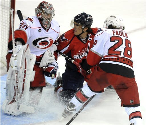 Capitals back in 1st after 2-1 win over Hurricanes