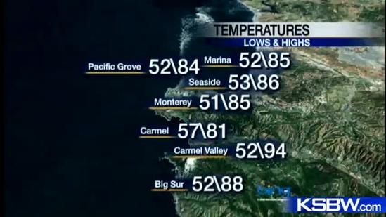 Watch your Monday night KSBW weather forecast 11.05.12