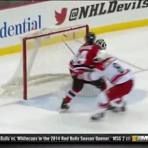 Devils score twice in 23 seconds vs Canes