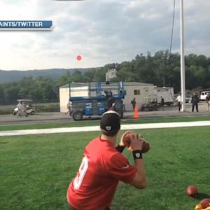 quarterback Drew Brees shows off accuracy at New Orleans Saints camp