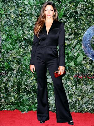 Camila Alves Debuts Slim Post-Baby Body in Black Jumpsuit on Red Carpet