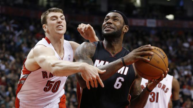 James scores 27, Heat beat Raptors 90-83