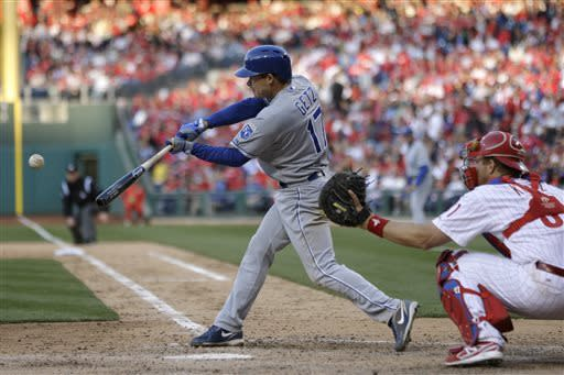 Gordon, Getz, Hosmer lead Royals over Phils 13-4