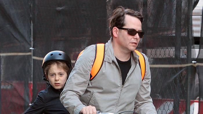 Matthew Broderick Takes The Kids To School