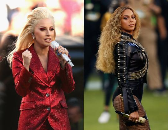Powerful Women Own Super Bowl 50: Beyoncé and Lady Gaga's Beauty Looks