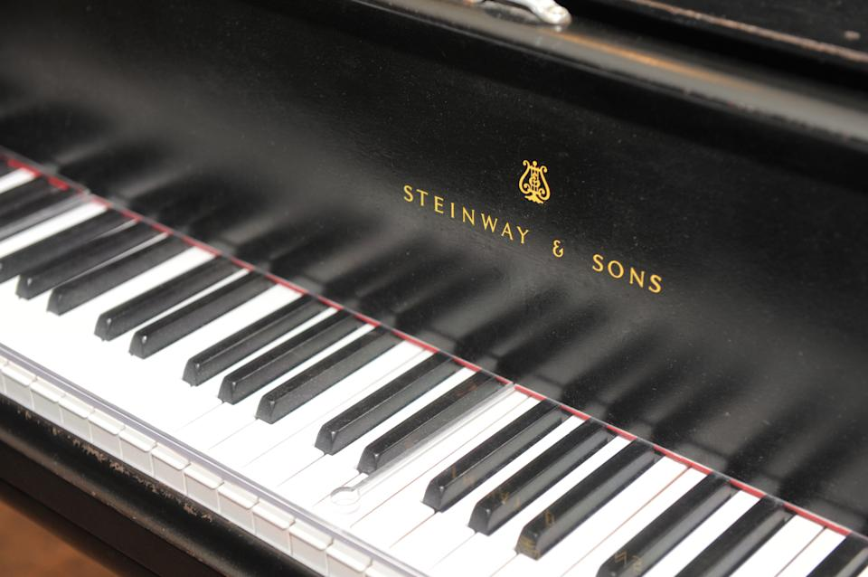 The prized Steinway grand piano appears in Studio A, Monday, April 1, 2013. The 1877 Steinway grand piano used by Motown greats during the label's 1960s heyday, and restored thanks to Paul McCartney, is back home in Detroit. (AP Photo/The Detroit News, Max Ortiz)