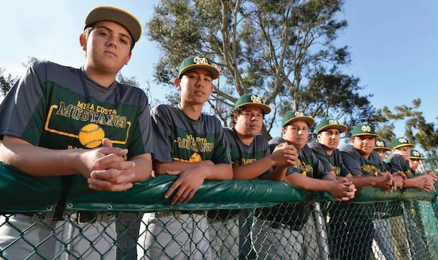 The Mira Costa managers, who now have a collective two home runs — Mira Costa baseball