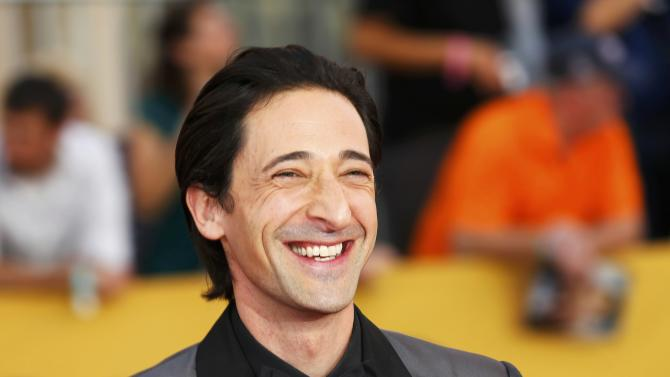 Adrien Brody arrives at the 21st annual Screen Actors Guild Awards in Los Angeles