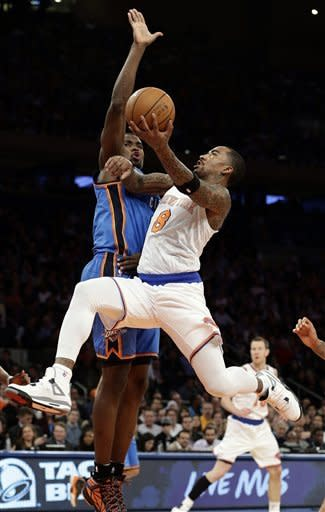 Thunder hold off Smith, Knicks as Anthony sits