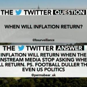 When Will Inflation Return?