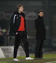 Coventry City's Manager Steven Pressley (left) alongside and Hartlepool United's Manager Colin Cooper (right)