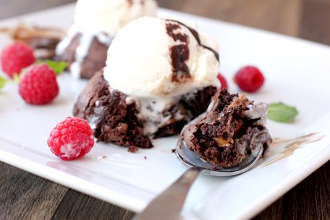 Candy Bar Lava Cake