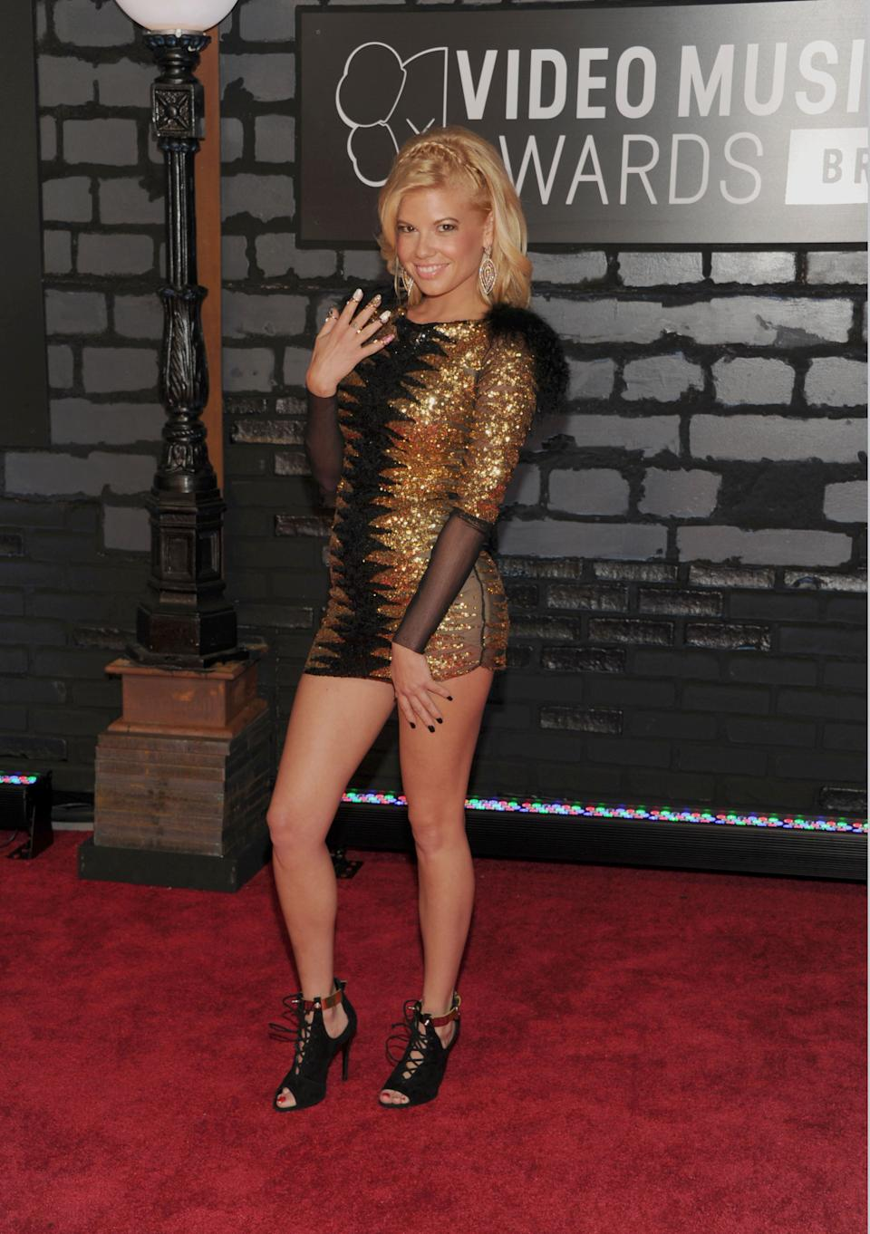 Chanel West Coast arrives at the MTV Video Music Awards on Sunday, Aug. 25, 2013, at the Barclays Center in the Brooklyn borough of New York. (Photo by Evan Agostini/Invision/AP)