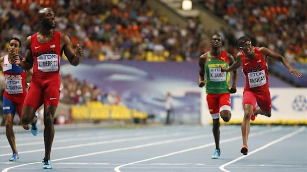 LaShawn Merritt wins world 400m gold (Reuters)