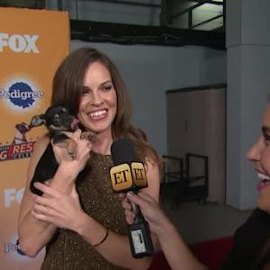 Hilary Swank Completely Loses It Over This Adorable Puppy -- And for Good Reason!