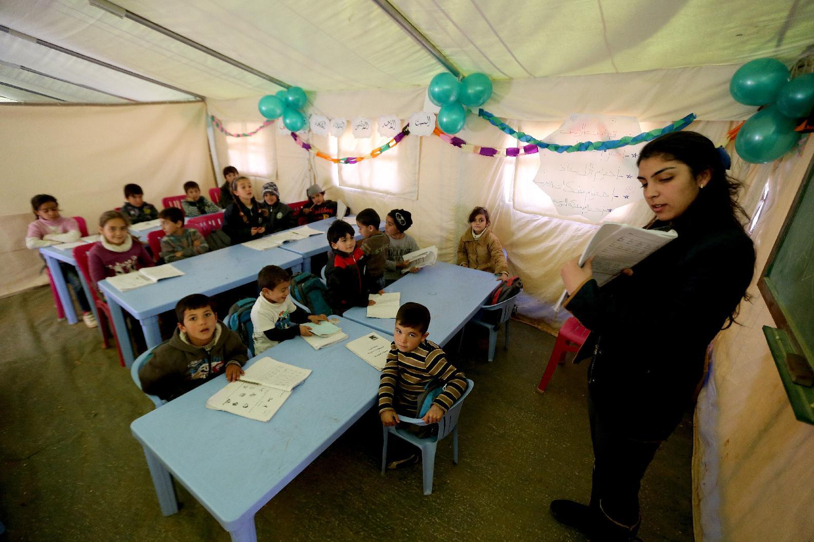 Tent school offers hope to Syrian child refugees