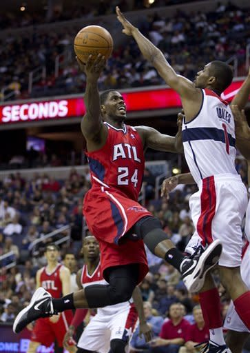Joe Johnson leads Hawks past Wizards, 95-92
