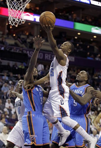 Durant scores 19 as Thunder defeat Bobcats 116-94