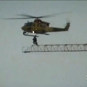 Canadian military helicopter performs unusual rescue