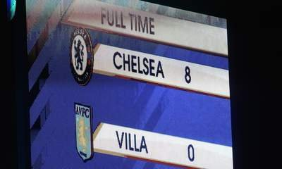 Chelsea Put 8 Past Aston Villa