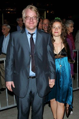Philip Seymour Hoffman and gal Mimi at the New York Film Festival premiere of Sony Pictures Classics' Capote