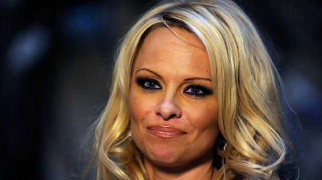 Pamela Anderson arrives at Simon G. Jewelry's 'Summer Soiree' and the kickoff of Carnevale Nights at The Palazzo on June 2, 2012 in Las Vegas -- Getty Images