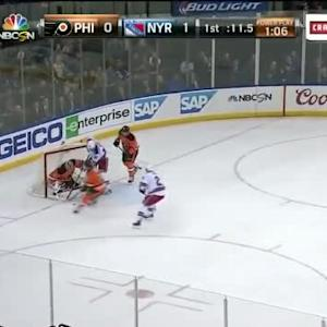 Steve Mason Save on Rick Nash (19:49/1st)